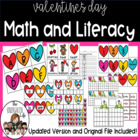Valentines Math & Literacy Unit 125 pages!