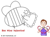 Valentine's Sign Language coloring page