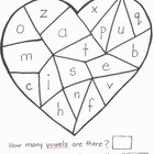 Valentine's Spelling Hand-Drawn Worksheets