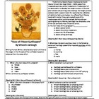 "Intervention & Test Prep with ""Vase with Twelve Sunflowers"