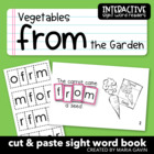 "Interactive Sight Word Reader ""Vegetables from the Garden"""