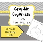 Venn Diagram Graphic Organizer (3 circles)