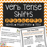 Verb Tense Shifts Unit Powerpoint Presentation, Student No