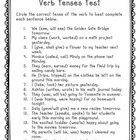 Verb Tenses Test (L.4.1b)