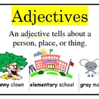 Verbs Adjectives Sentences Nouns  POSTER SET