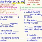 Verbs, Being Verbs, Past and Present- 5 Pages of Interacti