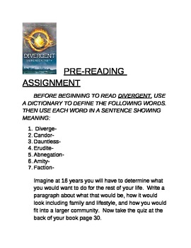 Veronica Roth Divergent Chapter Questions