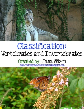 Vertebrate and Invertebrate Classification Unit
