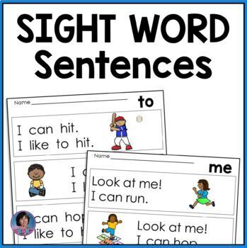 Very First Sight Word Sentences ~ Guided Reading Levels A and B