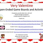 Very Valentine Open-Ended Game Boards and Activities for S
