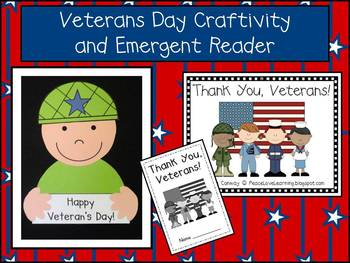 Veterans Day Craftivity & Emergent Reader Pack