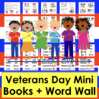 Veterans' Day Emergent Readers and Harder Plus Pocket Chart Cards