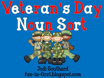 Veteran's Day Noun Sort Freebie