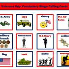 Veterans Day Vocabulary Bingo