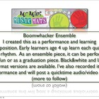 (Video Demo two) Boomwhacker Ensemble