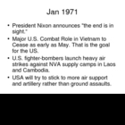 Vietnam War History Power Point - 1971-72