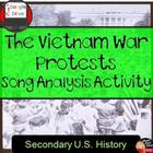 Vietnam War Protest Song Analysis Activity