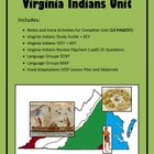 Virginia Studies Virginia Indians Unit (VS.2 d-g)