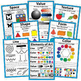 Visual Arts Elements of Art Large Posters Bulletin Board 12 x 18