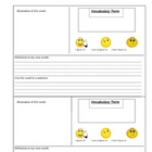 Visual Dictionary Template for All Areas - K-3