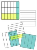 Visual Fraction Multiplication Grids Transparent Clip Art