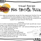 Visual Recipe for the Special Ed Classroom - Mini Tortilla Pizzas