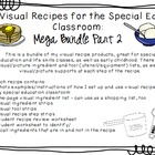 Visual Recipes for the Special Ed Classroom: Mega Bundle Part 2!