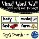 Visual Word Wall Cards: Fry's Fourth 100 Words