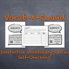 Vocab-A-Round 2: Unique, Kinesthetic Way to Review Math Vo