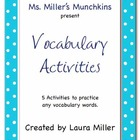 Vocabulary Activities Bundle