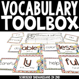 Vocabulary Builder Toolbox - Prefixes, Suffixes, Root Word
