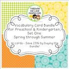 Vocabulary Cards Bundle for Preschool & Kinder Set 1: Spri