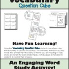 Vocabulary Comprehension Cube Common Core Aligned ELA L.3.