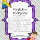 Vocabulary Development - Worksheet Packet (1-10)