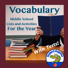 Vocabulary Enrichment - A Year of Vocabulary Lists, Activi