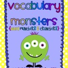 Vocabulary Monsters {Vocabulary Graphic Organizers}