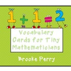 Vocabulary Posters  for Tiny Mathematicians