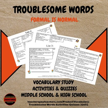 Vocabulary PowerPoint: Troublesome Words