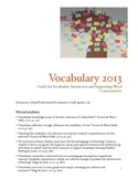 Vocabulary Professional Development Guide