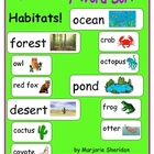 Vocabulary Sort ~ Habitats!