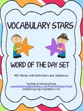 Vocabulary Stars Word of the Day Set