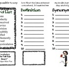 "Vocabulary Trifold - ""The Tell-Tale Heart"""