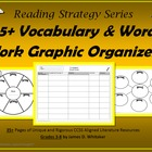 Vocabulary Word Work Graphic Organizers Common Core