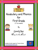 Vocabulary and Phonics for First Grade