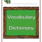 Vocabulary dictionary book