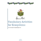 Vocabulary  for Ecosystems
