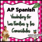 Vocabulary for Triángulo Aprobado for AP Spanish: Las fami