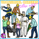Vocational Careers Clip Art - color and black line