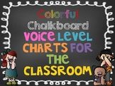 Voice Level Posters - Bright Chalkboard Theme!