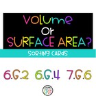 Volume and Surface Area Sort Preparation for CCSS 6.G.2, 6
